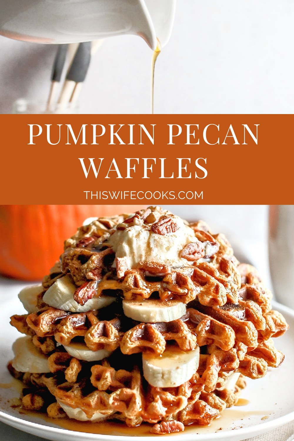 Perfect for chilly fall mornings! These savory waffles are lightly crisp on the outside, soft on the inside, and packed with the best spice flavors of the season.  via @thiswifecooks