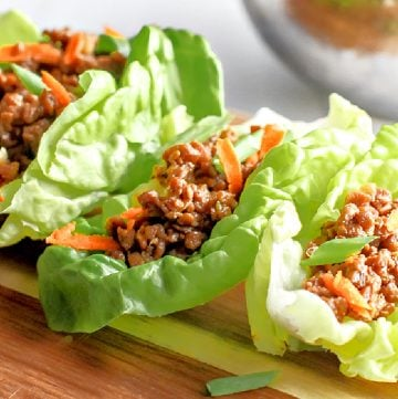 Asian Style Lettuce Wraps ~ Skip the takeout line and serving up this easy and tasty plant-based dish right in the comfort of your own home!