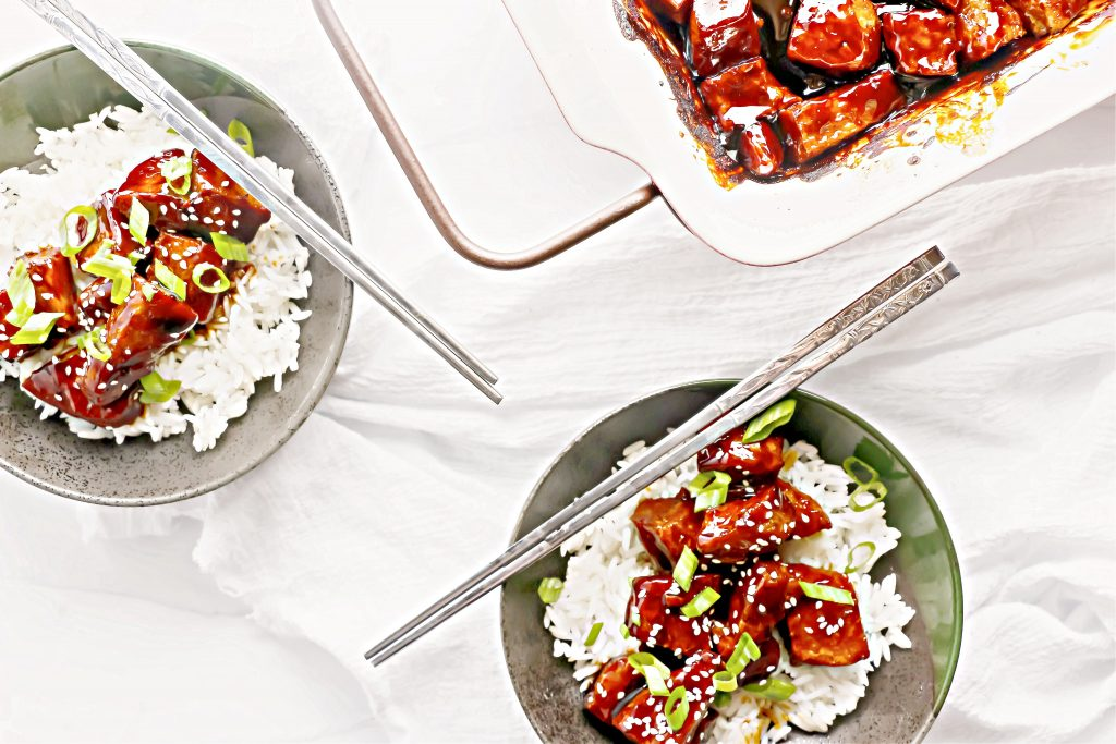 Vegan Teriyaki Chicken ~ A quick and easy meat-free version of the classic teriyaki chicken.