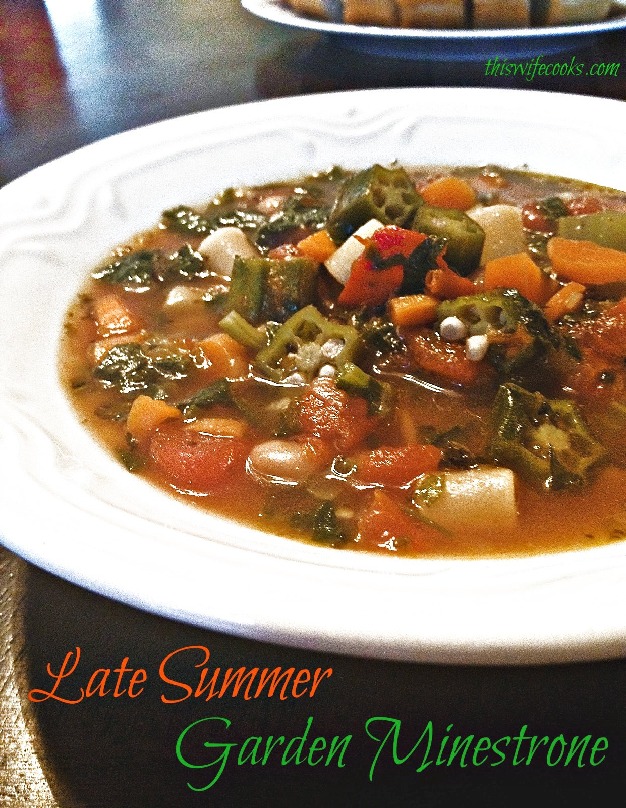 Late Sumer Garden Minestrone ~ This quick and easy 30-minute minestrone takes advantage of the late summer harvest with ingredients from the garden!  via @thiswifecooks