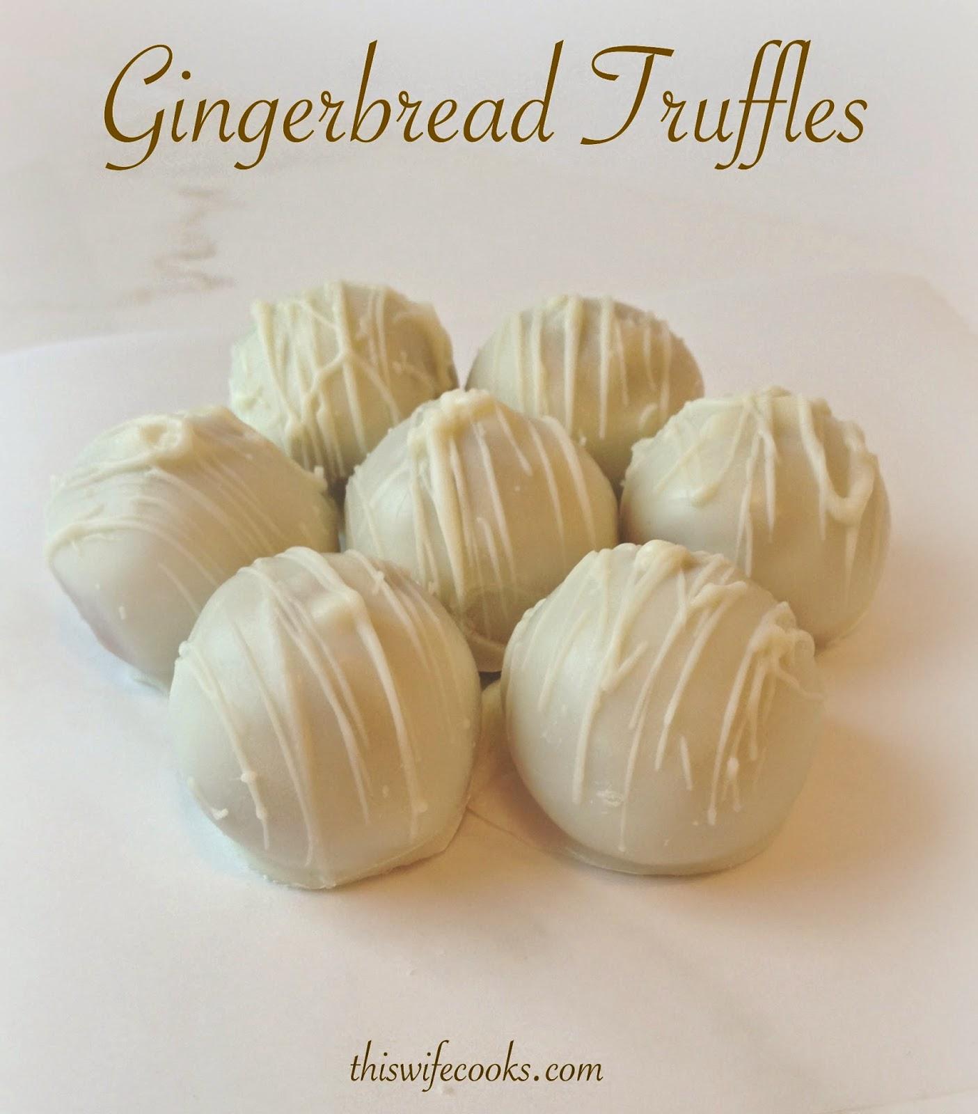 3-Ingredient Gingerbread Truffles   thiswifecooks.com