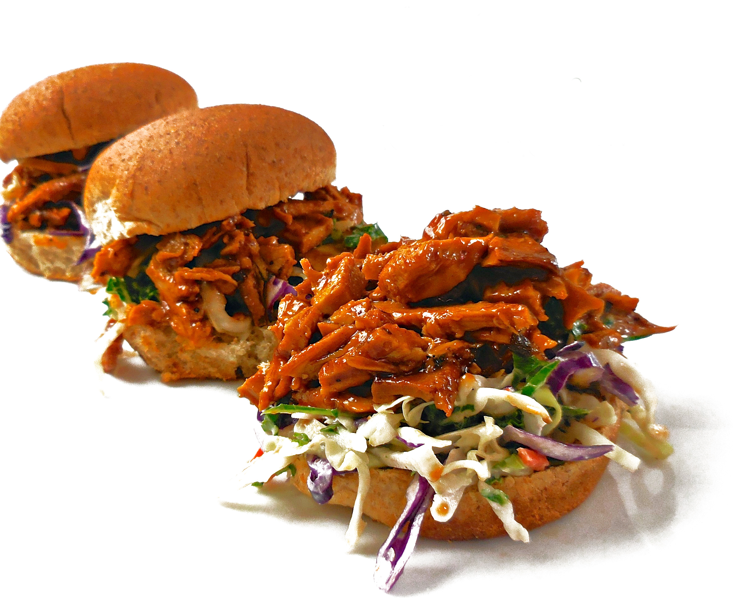 Slow Cooker Vegan BBQ - A classic combination of BBQ and coleslaw together in one bite, these easy sliders are like a taste of summer. via @thiswifecooks