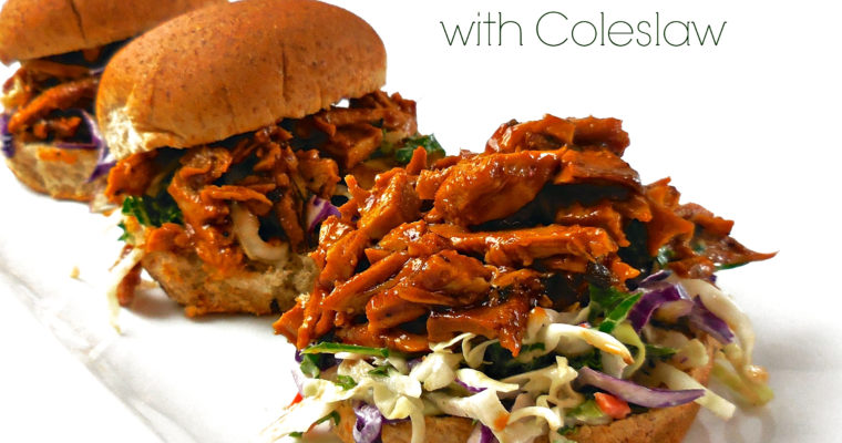 Slow Cooked Vegan BBQ Sliders with Coleslaw