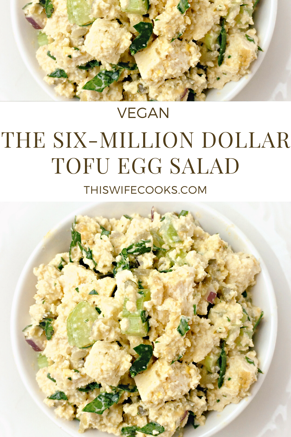 The Six-Million Dollar Tofu Egg Salad! - This is the preparation method as it appears in the book Mastering the Art of Vegan Cooking | thiswifecooks.com 