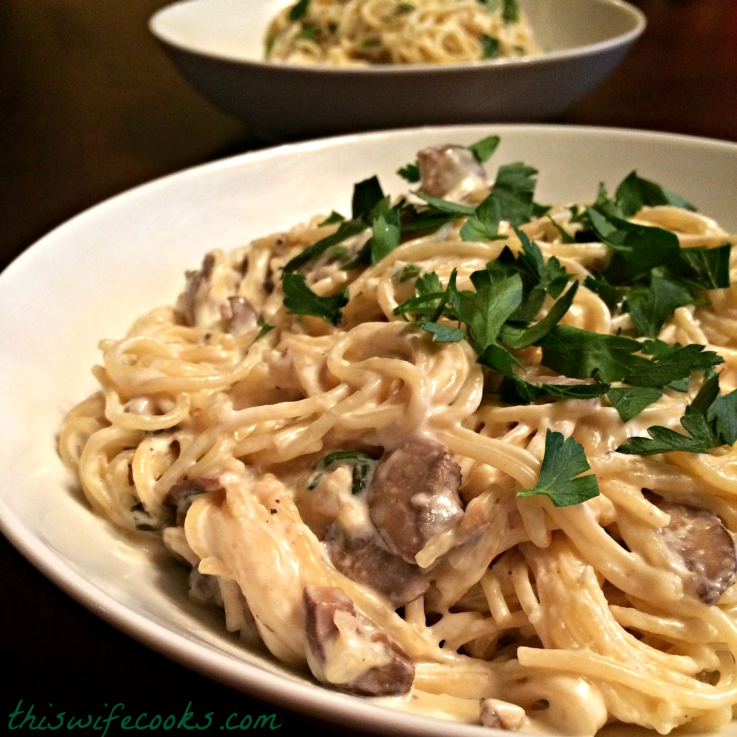 Angel Hair With Creamy Vegan Mushroom Sauce This Wife Cooks