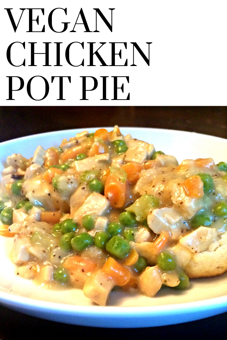Vegan Chicken Pot Pie | This is classic, stick-to-your-ribs comfort food - vegan style! via @thiswifecooks