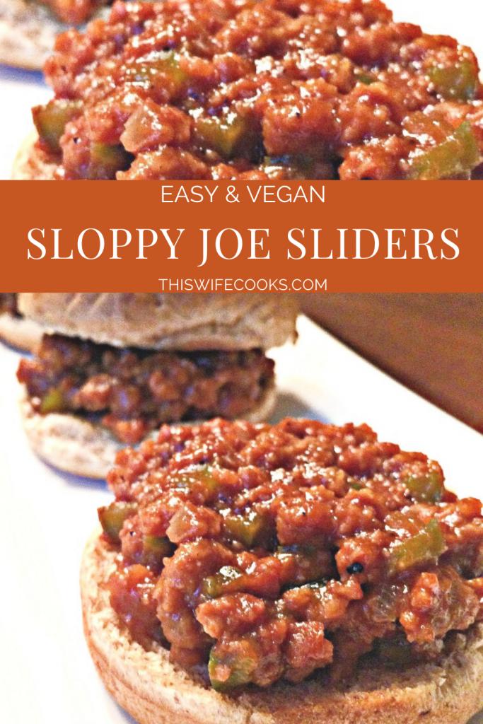 Vegan Sloppy Joe Sliders - A hearty and delicious vegan version of the Classic Sloppy Joe sandwich!