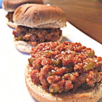 Vegan Sloppy Joe Sliders - A hearty and delicious vegan version of the Classic Sloppy Joe sandwich!