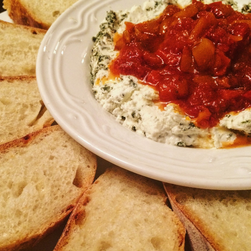 Are you ready for a super easy and tasty, not to mention pretty, appetizer that requires zero cooking and only two ingredients? It doesn't get much easier than this.Serve with a sliced baguette and you've got one deliciously simple yet sophisticated pre-dinner snack.