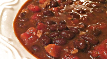 Beefy Black Bean Vegan Chili