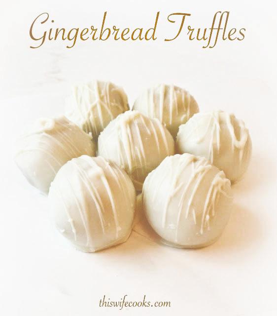 3-Ingredient Gingerbread Truffles