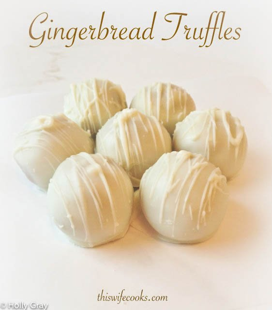 3-Ingredient Gingerbread Truffles