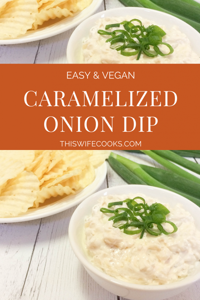 Caramelized Onion Dip - Perfect for Game Day snacking - This recipe will make you want to ditch the pre-made onion dips for good!