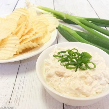 Vegan Caramelized Onion Dip | This recipe will make you want to ditch the pre-made onion dips for good! | thiswifecooks.com