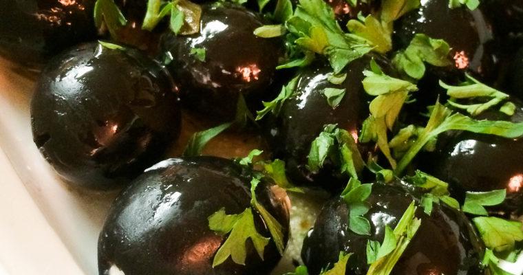 Zesty Cream Cheese Stuffed Olives