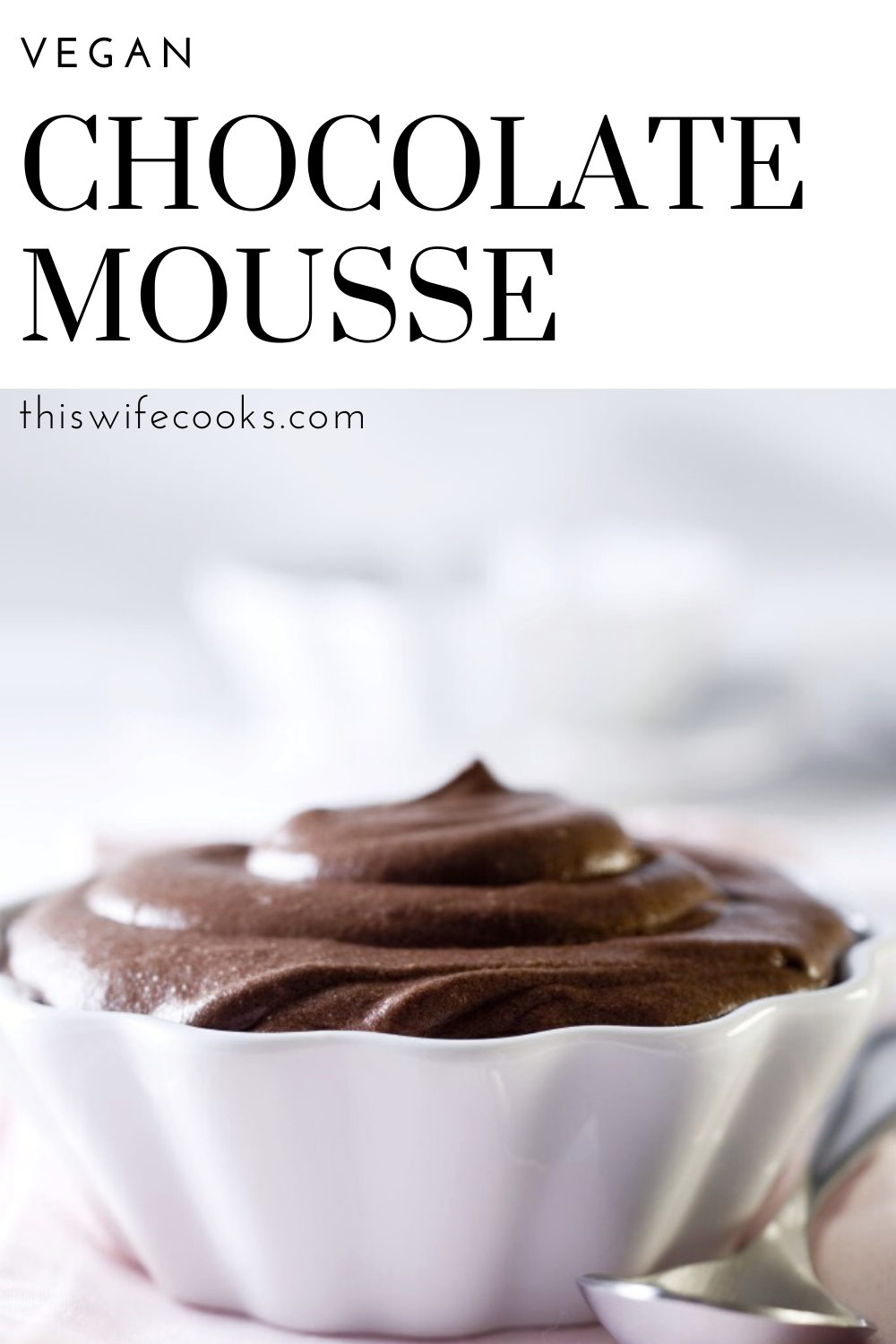 Vegan Chocolate Mousse - Now this is a dessert you can feel good about! Chocolatey, dairy-free deliciousness, ready to serve in an hour or less. via @thiswifecooks