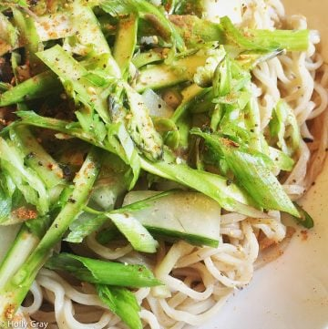 Soba Noodle Salad with Asparagus & Cucumber | thiswifecooks.com