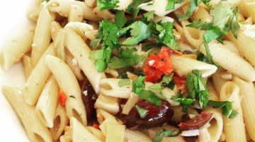 Penne with Artichokes, Walnuts, and Olives