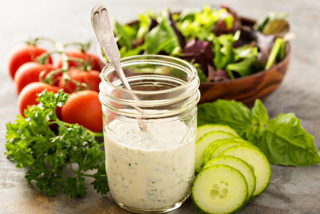 Vegan Ranch Dressing - Six simple ingredients and all the classic ranch flavor you love in an easy to make dressing and dip.
