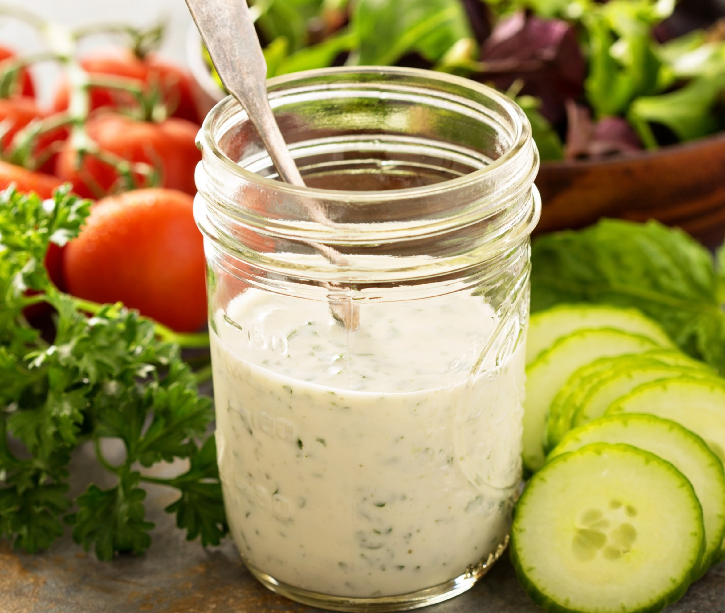 Easy Vegan Ranch Dressing - Six simple ingredients and all the classic ranch flavor you love in an easy to make dressing and dip. via @thiswifecooks