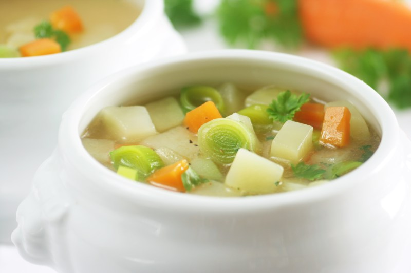 Vegan Leek and Potato Soup with Carrots