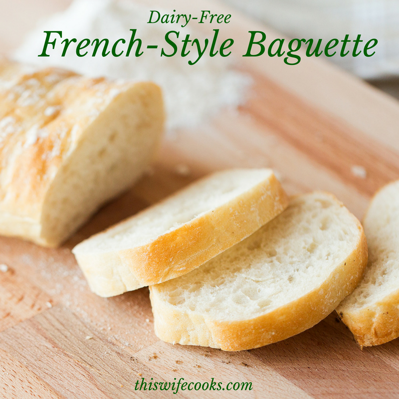 French-Style Baguette - A refreshingly easy, warm and crusty, addition to your soup or pasta night! | thiswifecooks.com