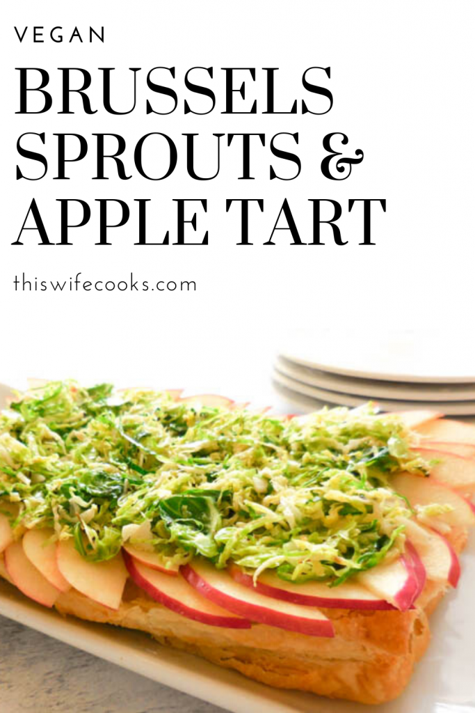 "Brussels Sprouts and Apple Tart - Savory and sweet flavors of the season come together in one ""wow-worthy"" appetizer that is sure to impress!"