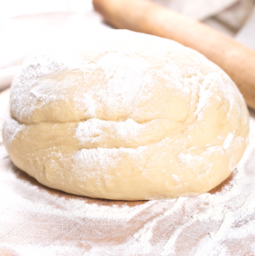 Homemade Pizza Dough - So quick and easy! The dough comes together in a snap. Perfect for your next pizza night at home!