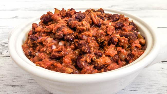 Vegan Campfire Chili + Homemade Chili Seasoning via @thiswifecooks