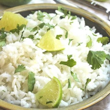 Cilantro Lime Rice - Simple and subtle, this easy rice is the perfect complement to bigger, bolder flavors found in hearty and spicy enchiladas or fajitas.