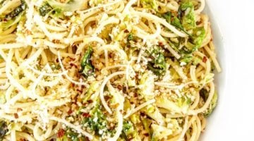 Spaghetti with Brussels Sprouts and Breadcrumbs