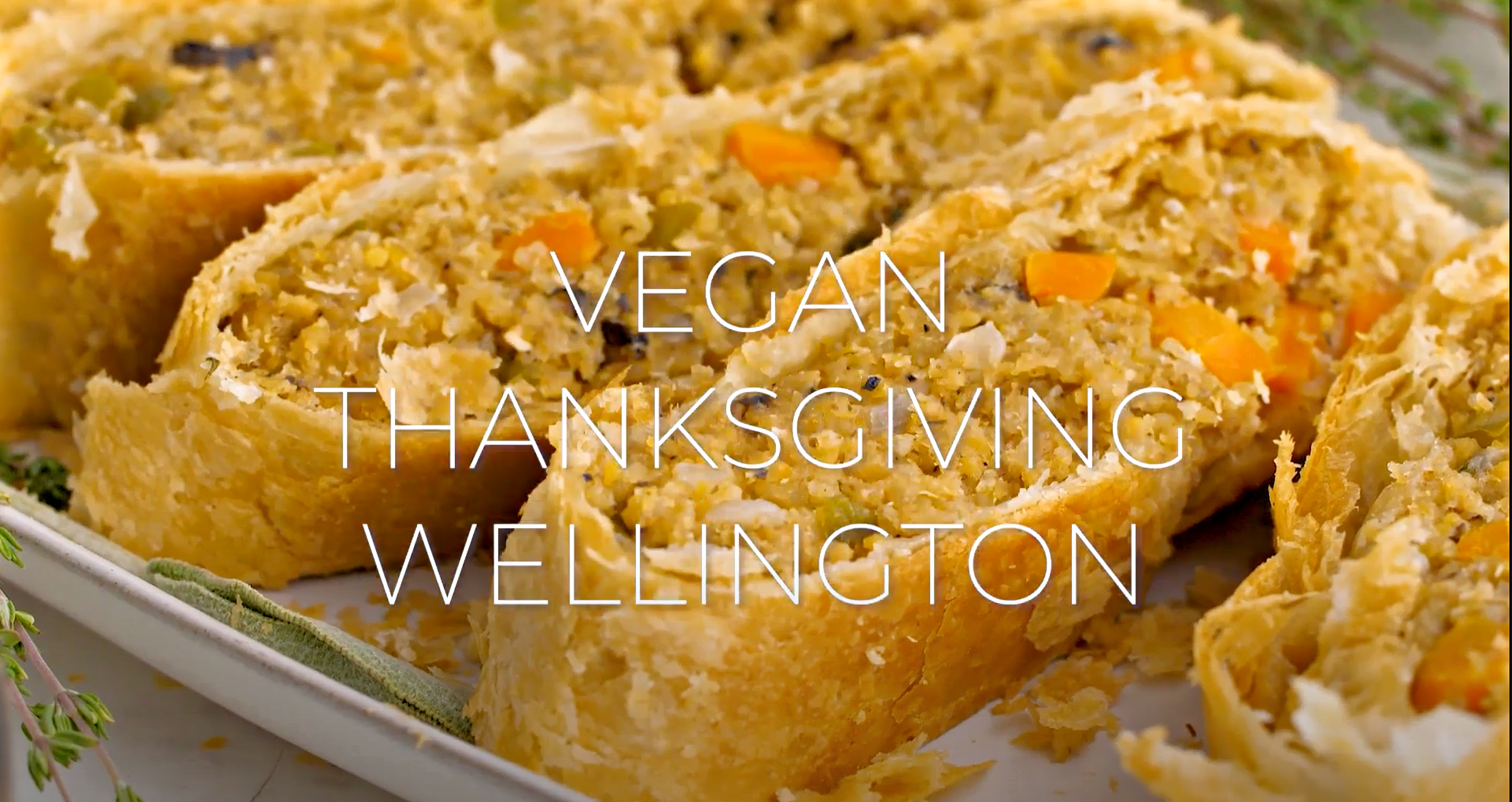 Vegan Thanksgiving Wellington - Loaded with savory quinoa, garbanzo beans, and veggies, then wrapped and baked in puff pastry.  via @thiswifecooks