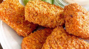 Crispy Air-Fried Buffalo Tofu