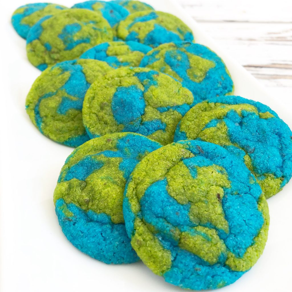 Vegan Earth Day Cookies! These semi-homemade and dairy-free cookies are super easy to make and are absolutely perfect for Earth Day!