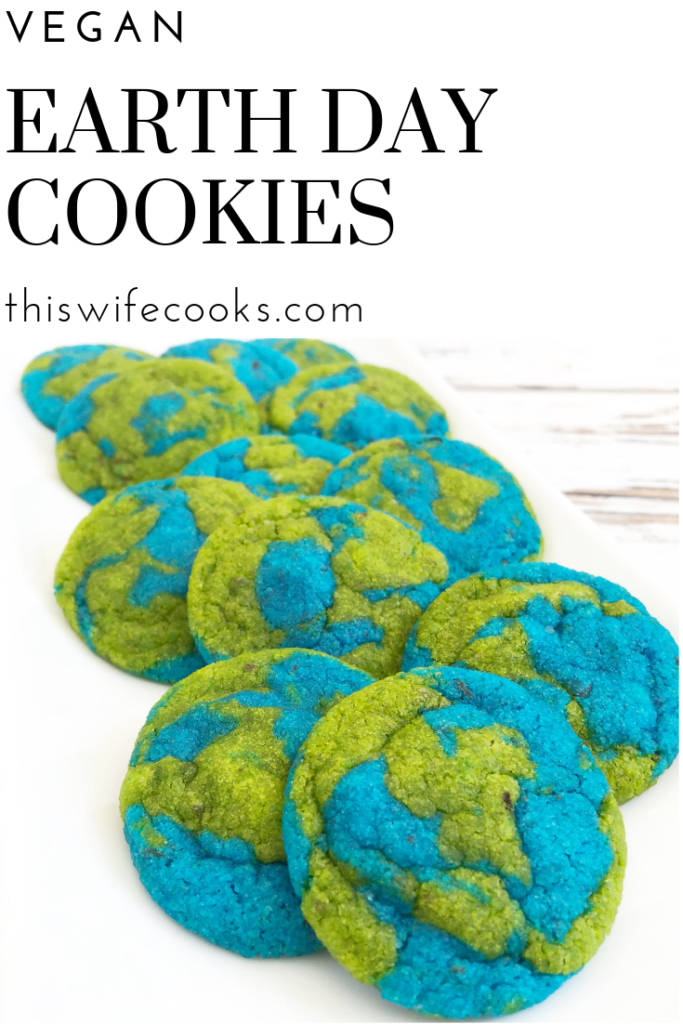 These dairy-free cookies are easy to make and perfect for Earth Day!