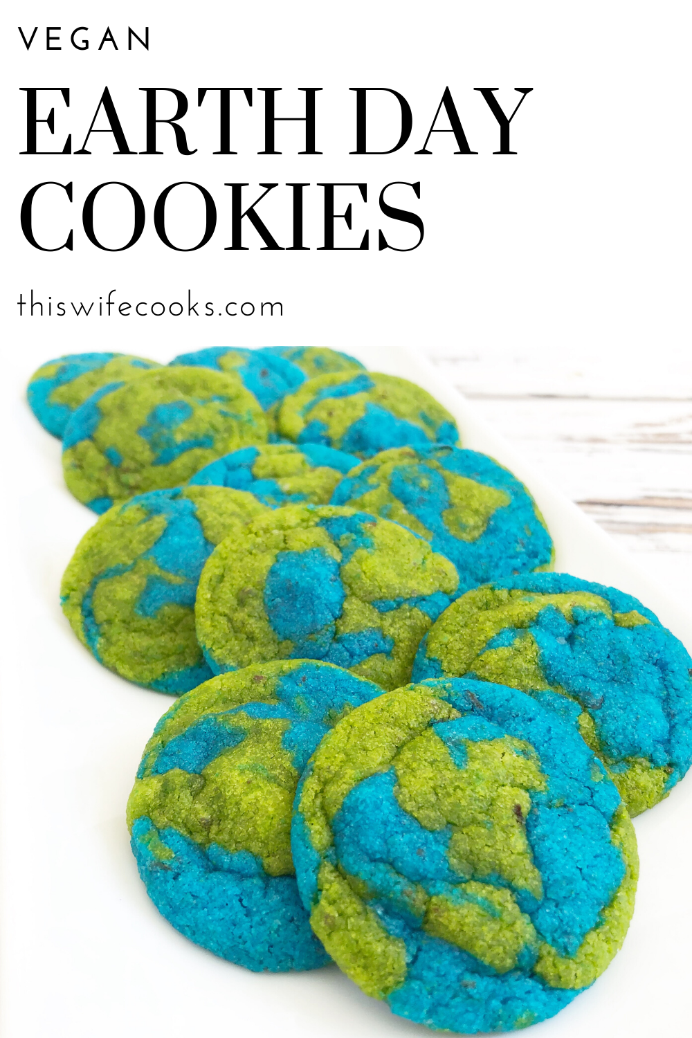 Vegan Earth Day Cookies! These semi-homemade and dairy-free cookies are super easy to make and are absolutely perfect for Earth Day! via @thiswifecooks