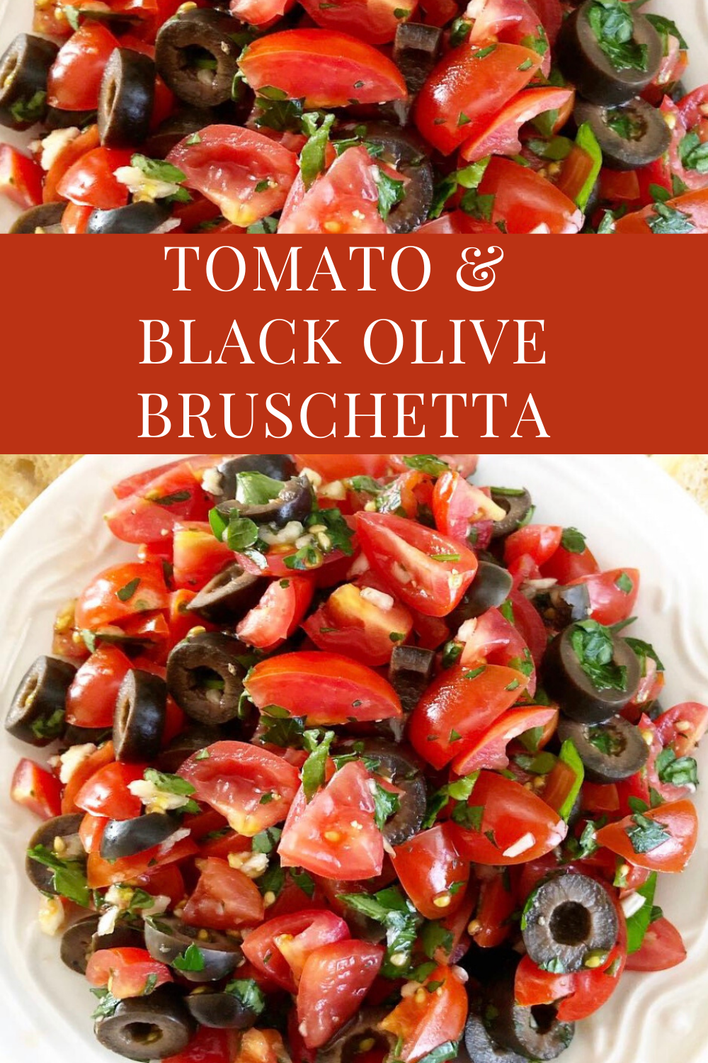 Tomato and Black Olive Bruschetta - Simple and elegant. Perfect for a casual picnic lunch for two or when entertaining guests at home. via @thiswifecooks