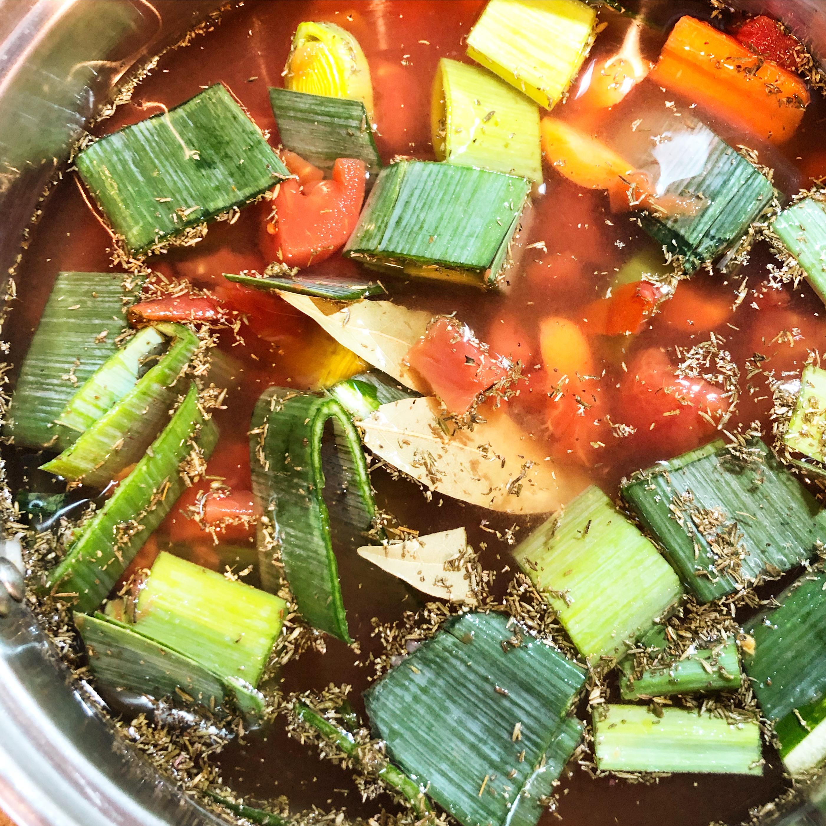Easy 20 Minute Vegetable Broth