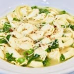 Vegan Tortellini and Spinach en Brodo