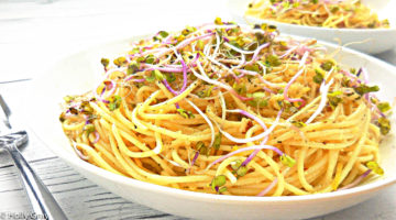Lemon Capellini with Almond Parmesan