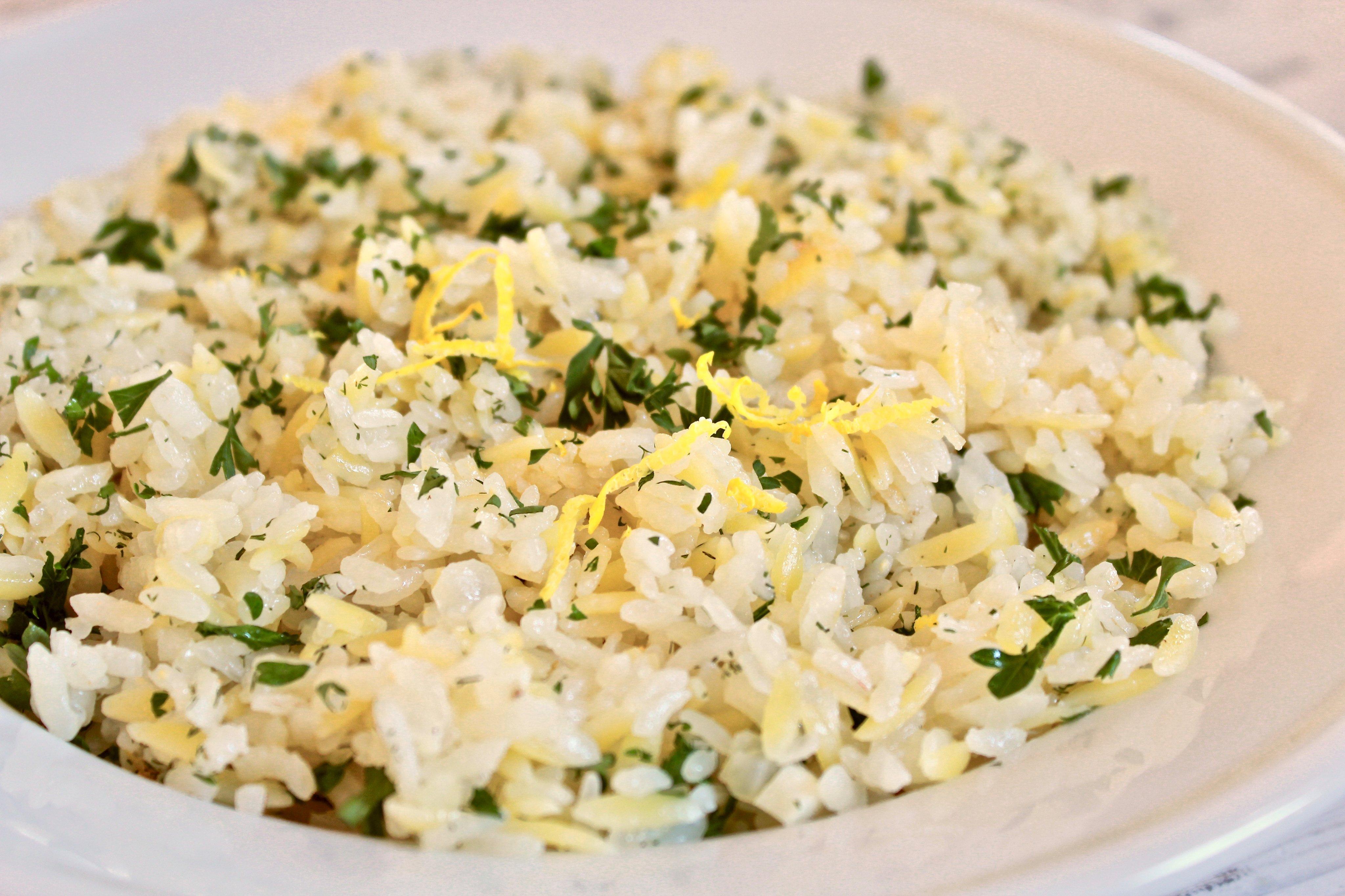 Lemon Orzo and Rice Pilaf