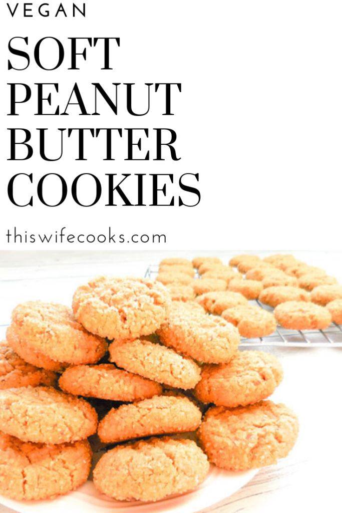 Vegan | Soft Peanut Butter Cookies
