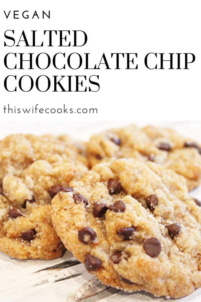 These cookies are soft and chewy, with just the right amount of sweetness, and the sprinkling of sea salt as they come out of the oven really puts them over the top!