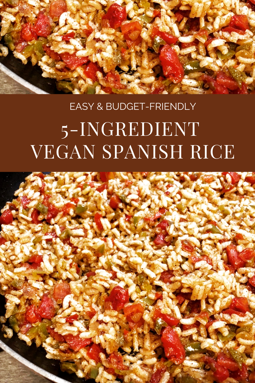 5-Ingredient Vegan Spanish Rice - A quick and easy vegan Spanish rice. Perfect on the side with tacos, as filling for enchiladas and burritos, or a hearty addition to your taco salad! #5ingredientrecipes #plantbasedricerecipes #easyveganrecipes #veganpantryrecipes #veganquarantinecooking #thiswifecooksrecipes #veganmexicanrecipes #quickandeasyrice #30minutedinners via @thiswifecooks