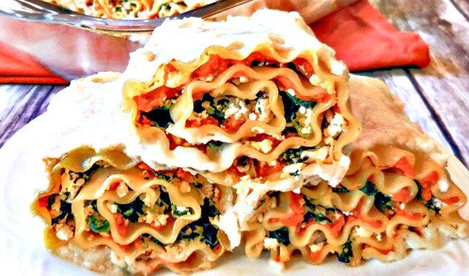 Vegan Pumpkin Lasagna Rollups