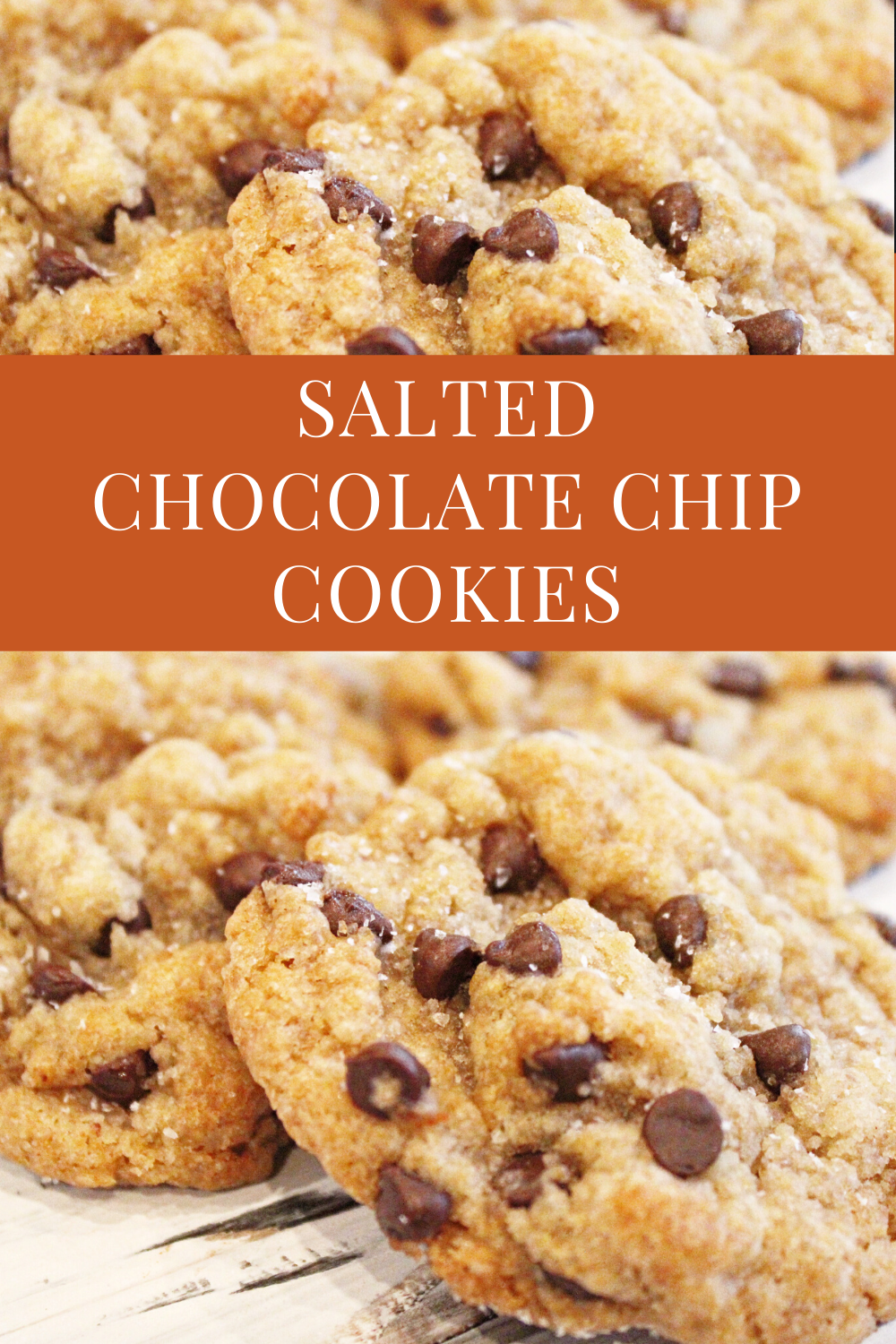 Vegan Salted Chocolate Chip Cookies - Soft and chewy, with just the right amount of sweetness and a sprinkling of sea salt as they come out of the oven. via @thiswifecooks
