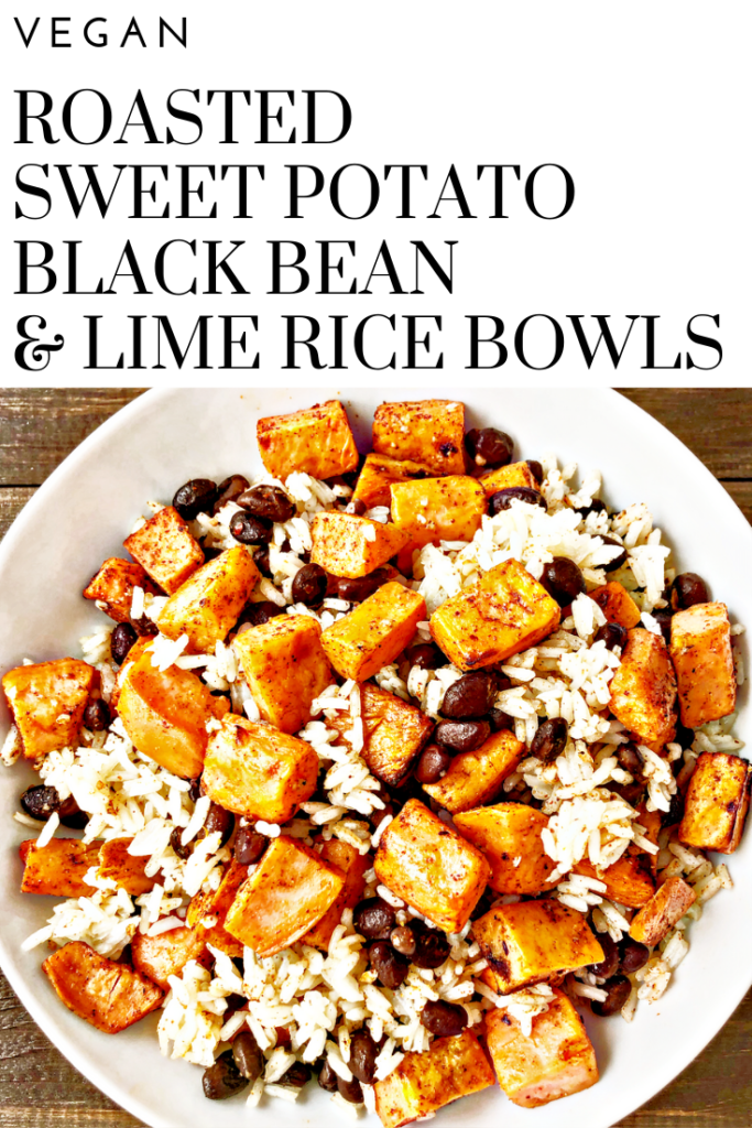 Vegan Sweet Potato Black Bean and Lime Rice Recipe | A colorful, tasty, satisfying, protein-packed, budget friendly meal that you can have on the table in about 30-40 minutes.
