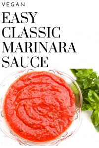 Easy Classic Marinara Sauce | Only a handful of simple ingredients needed - Ready to go in about 15 minutes - Knocks the socks off store bought marinara any day!