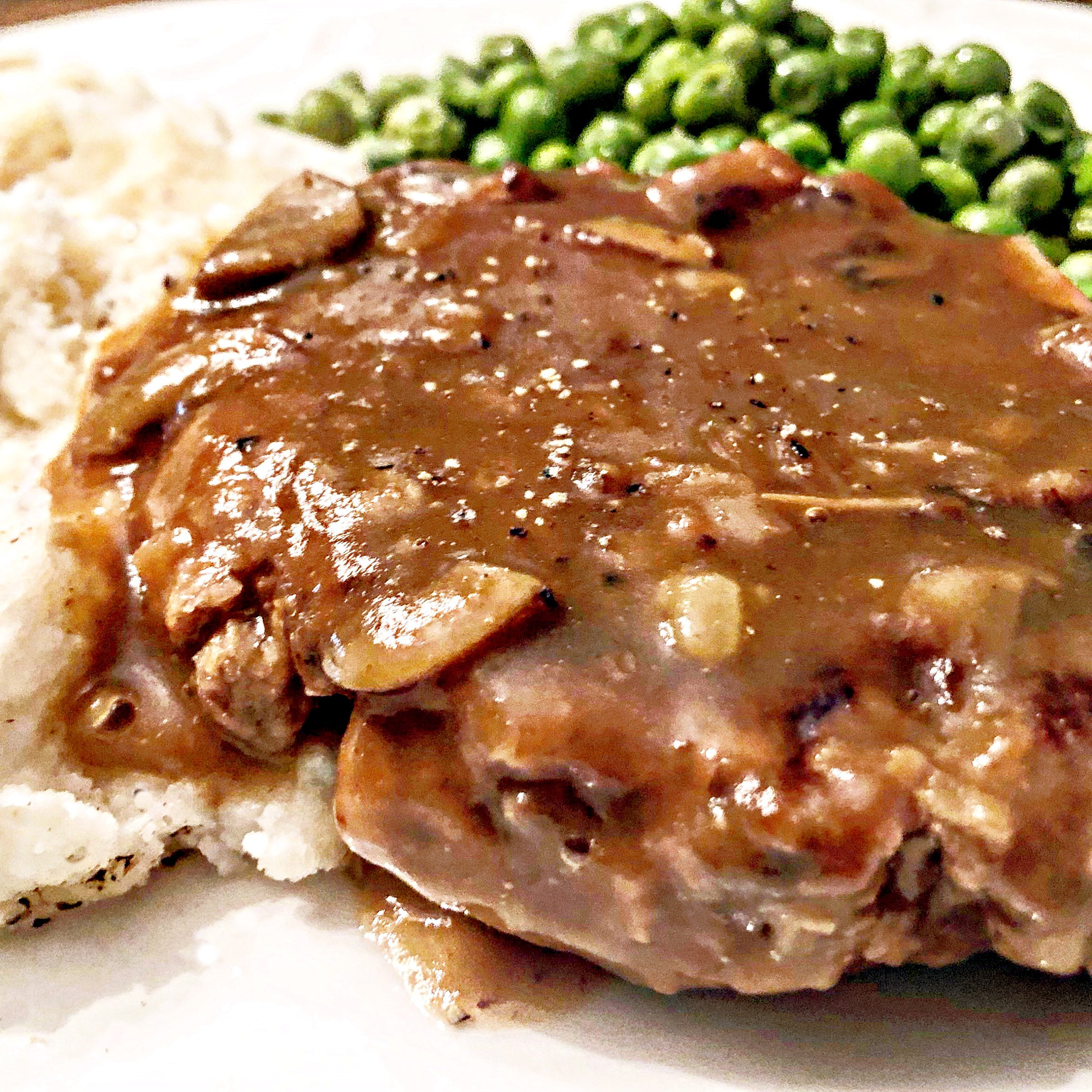 Vegan Salisbury Steak with Mushroom Gravy
