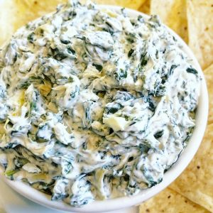 5-Ingredient Vegan Spinach and Artichoke Dip
